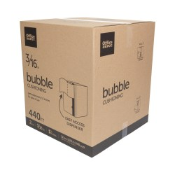"""Office Depot® Brand Small Bubble Wrap, 3/16"""" Thick, Clear, 12"""" x 220', Box Of 2 Rolls"""