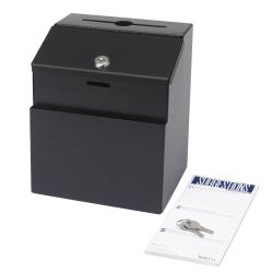 "Safco® Steel Suggestion Storage Box, 8 1/2"" x 7"", Black"