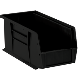 """Office Depot® Brand Plastic Stack & Hang Bin Boxes, Small Size, 14 3/4"""" x 8 1/4"""" x 7"""", Black, Pack Of 12"""