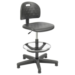 Safco® Soft Tough™ Economy Workbench Drafting Chair, Black