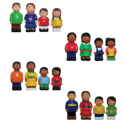 Get Ready Kids Multicultural Families Set, Pre-K To Grade 2, Pack Of 16 Figures