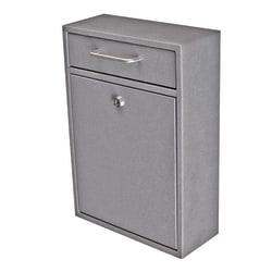"""Mail Boss Locking Security Drop Box, 16 1/4""""H x 11 1/4""""W x 4 3/4""""D, Granite"""