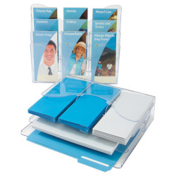 """Deflect-O® 3-Tier Document Holder, 11 1/2""""H x 13 3/8""""W x 3 1/2""""D, Clear"""