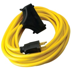 Southwire Generator 3-Outlet Extension Cord, 25 Amp, 25', Yellow, 172-01910