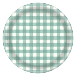 "Amscan Melamine Fall Checkered Chargers, 13"" x 13"", Case Of 4"