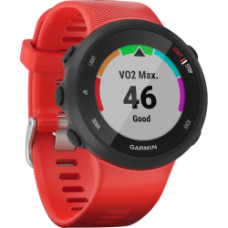 """Garmin Forerunner 45 GPS Watch - Wrist - Heart Rate Monitor, Accelerometer -1"""" - 208 x 208 - GPS - 168 Hour - 1.65"""" - Lava Red - Glass Lens - Silicone Band - Water Resistant - Glass Lens"""
