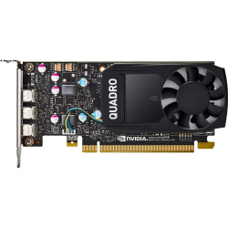 HP NVIDIA Quadro Graphic Card - 2 GB GDDR5 - Low-profile - 2 GHz Core - 64 bit Bus Width - Mini DisplayPort
