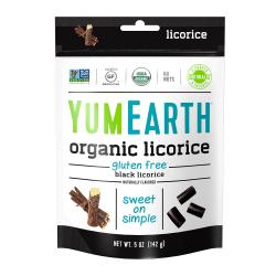 Yummy Earth Organic Gluten-Free Licorice, Black, 5 Oz, Pack Of 4 Bags