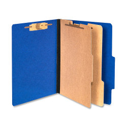 ACCO® Color Life Presstex Top-Tab Folders, Letter Size, 30% Recycled, Blue, Box Of 10