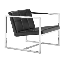 Zuo Modern® Carbon Occasional Chair, Black/Chrome