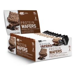 OPTIMUM NUTRITION Protein Wafers Protein Snack Chocolate Creme, 1.48 oz, 9 Count