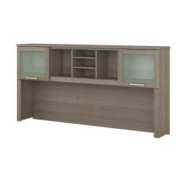 "Bush Furniture Somerset Hutch for L Shaped Desk, 72""W, Ash Gray, Standard Delivery"