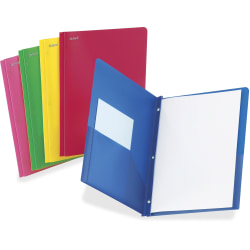 TOPS Oxford® Translucent Poly Twin-Pocket Folders, Letter Size, Assorted Colors, Box Of 25 Folders