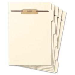 Smead® Hinge Covered Fastener File Folder Dividers, Letter Size, Manila, Pack Of 50
