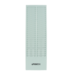 "uPunch Time Card Rack, 50 Pockets, 27""H x 8.2""W x 1.4""D, Gray, HNTCR50"