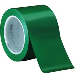 "3M™ 471 Vinyl Tape, 3"" Core, 3"" x 36 Yd., Green, Case Of 12"