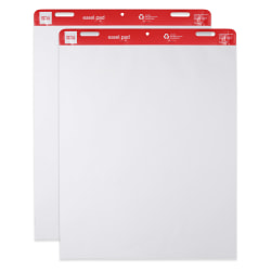"""Office Depot® Brand Standard Easel Pads, 27"""" x 34"""", 30% Recycled, White, 50 Sheets Per Pad, Pack Of 2 Pads"""
