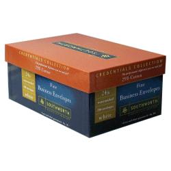 "Southworth® Fine Business Envelopes, #10, 4 1/8"" x 9 1/2"", Ivory, Box Of 250"
