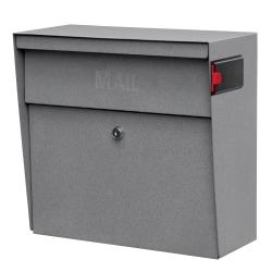 "Mail Boss™ Metro Mail Wall Mount Locking Mailbox, 14 3/4""H x 15 2/5""W x 7 1/8""D, Granite"