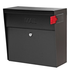 "Mail Boss™ Metro Mail Wall Mount Locking Mailbox, 14 3/4""H x 15 2/5""W x 7 1/8""D, Black"