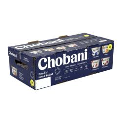 Chobani Greek Yogurt, 5.3 Oz, Assorted Flavors, Pack Of 16