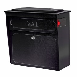 "Mail Boss™ Townhouse Wall Mount Locking Mailbox, 16""H x 15 3/4""W x 7 1/2""D, Black"