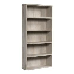 "Sauder® Optimum Bookcase, 73-1/2"", 5 Shelves, Chalked Chestnut"