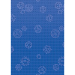Teacher Created Resources Better Than Paper Bulletin Board Paper, 4' x 12', Gears, Pack Of 4 Rolls