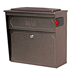 "Mail Boss™ Townhouse Wall Mount Locking Mailbox, 16""H x 15 3/4""W x 7 1/2""D, Bronze"