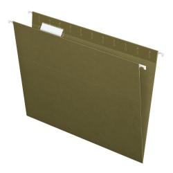 Pendaflex® Hanging File Folders, Letter Size, 100% Recycled, Standard Green, Box Of 25 Folders