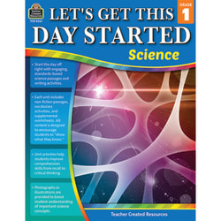 Teacher Created Resources Lets Get This Day Started: Science, Grade 1