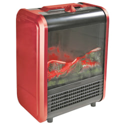 "Comfort Zone 1200 Watts Electric Ceramic Heater, 3 Heat Settings, 14.5""H x 7.5""W, Red"