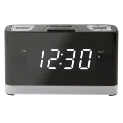 "iLive Wireless Voice-Activated Digital Clock With Amazon Alexa, 3-15/16""H x 6-11/16""W x 1-15/16""D, Black"