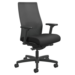 HON® Ignition® Mesh Back Task Chair, Black