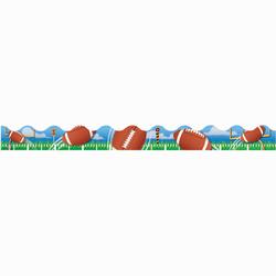 Eureka Deco Trim® Strips, Football, Assorted Colors, Pre-K - Grade 6, Pack Of 12