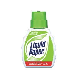 Liquid Paper® Smooth-Coverage Correction Fluid, Fast Dry, 22 mL Bottle