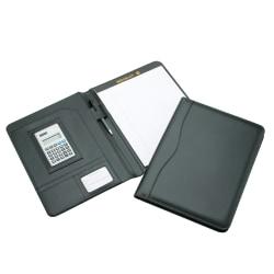 "Pad Holder With Calculator, 9"" x 12"", Black (AbilityOne 7510-01-484-4563)"