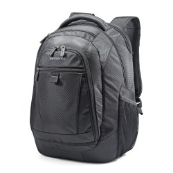 "Samsonite Tectonic 2 Carrying Case (Backpack) for 15.6"" Notebook - Black - Shock Resistant Interior, Slip Resistant Shoulder Strap - Poly Ballistic, Tricot Interior - Shoulder Strap, Handle - 16.9"" Height x 12.2"" Width x 8.2"" Depth"