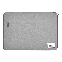 "Solo Bags Refocus Recycled Laptop Sleeve, 11-1/4"" x 16-1/4"", 51% Recycled, Gray"