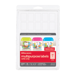 """Office Depot® Brand Removable Labels, OD98819, 5/8"""" x 7/8"""", White, Pack Of 1,050"""