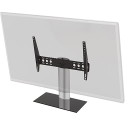 """AVF B602BS-A: Adjustable Tilt and Turn Universal Table Top Stand/Base - Up to 65"""" Screen Support - 99.21 lb Load Capacity - Desktop, Portable - Silver, Black"""