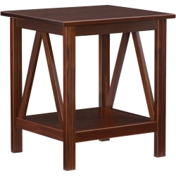 Linon Home Decor Products Rockport End Table, Antique Tobacco
