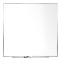 """Ghent Magnetic Porcelain Dry-Erase Whiteboard, 48"""" x 48"""", Aluminum Frame With Silver Finish"""