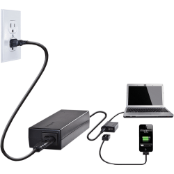 Targus® APA32US Laptop Charger With USB Fast Charging Port