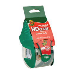 "Duck® HD Clear™ Heavy-Duty Packaging Tape, With Dispenser, 1.88"" x 40 Yd., Clear"