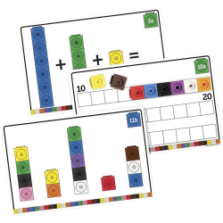 Learning Resources MathLink Cubes Early Math Activity Set - Skill Learning: Mathematics, Addition, Subtraction, Sequencing, Color, Shape - 4-10 Year