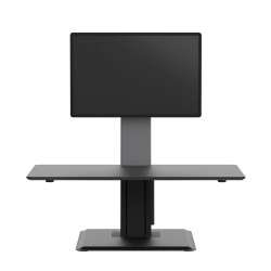 WorkPro® Perform Desk Riser By Humanscale, Single Monitor, Black