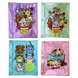 "Inkology Smooshy Mushy Binder Pencil Pouches, 9-1/2"" x 7-1/2"", Assorted Designs, Set Of 8 Pouches"