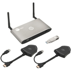 SIIG Dual View Wireless Media Presentation Kit - Up to 16 Devices Wirelessly with 4K Resolution