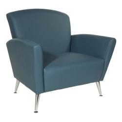 Office Star™ Club Chair, Dillon Blue/Chrome